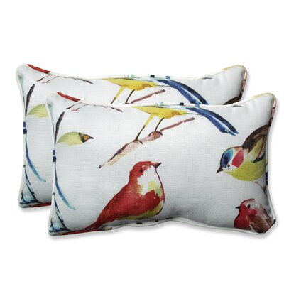Pillow Perfect Outdoor / Indoor Bird Watchers Summer Throw Pillow (Set of 2) Size: 11.5 H x 18.5 W x 5 D