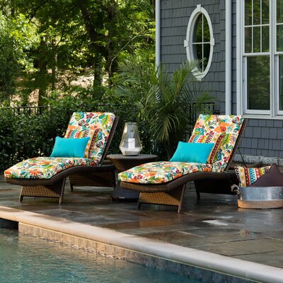 Guadaloue Outdoor Chaise Lounge Cushion Color: Jungle