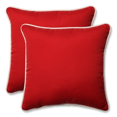 Outdoor/Indoor Throw Pillow Size: 18.5 H x 18.5 W x 5 D, Color: Red