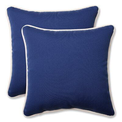 Ariad Outdoor Throw Pillow Size: 16.5 H x 16.5 W x 5 D, Color: Blue