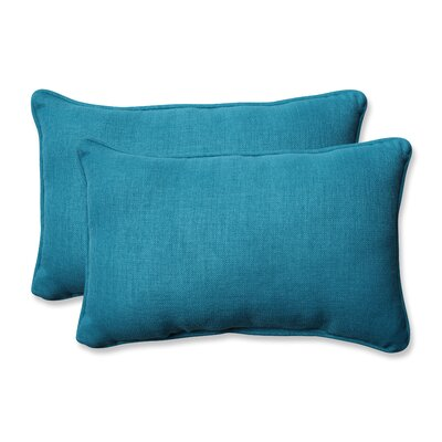 Rave Outdoor Lumbar Pillow Size: 11.5 H x 18.5 W x 5 D, Color: Peacock