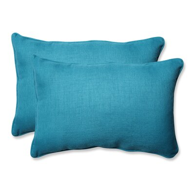 Rave Outdoor Lumbar Pillow Size: 16.5 H x 24.5 W x 5 D, Color: Peacock