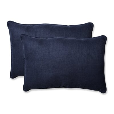 Rave Outdoor Lumbar Pillow Size: 16.5 H x 24.5 W x 5 D, Color: Indigo