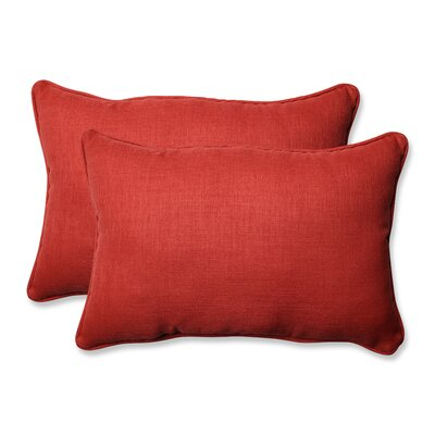 Rave Outdoor Lumbar Pillow Size: 16.5 H x 24.5 W x 5 D, Color: Flame