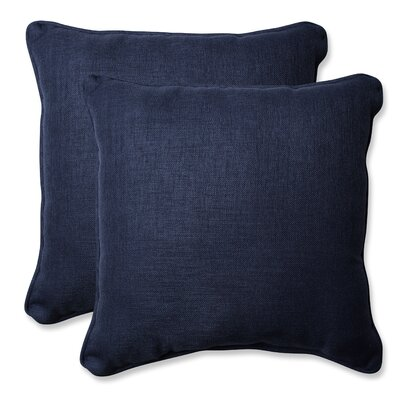 Rave Outdoor Throw Pillow Color: Indigo