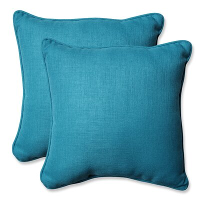 Rave Outdoor Throw Pillow Color: Peacock