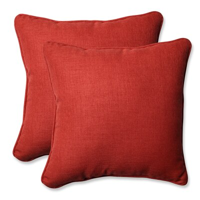 Rave Outdoor Throw Pillow Color: Flame