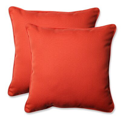 Splash Outdoor/Indoor Throw Pillow Color: Mango