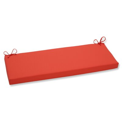 Splash Outdoor Bench Cushion Color: Mango