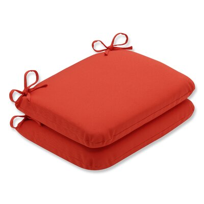 Splash Outdoor Chair Seat Cushion Fabric: Mango