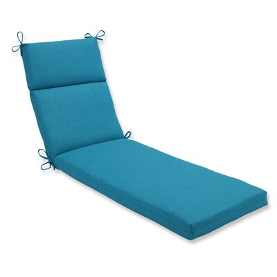 Rave Outdoor Chaise Lounge Cushion Fabric: Peacock