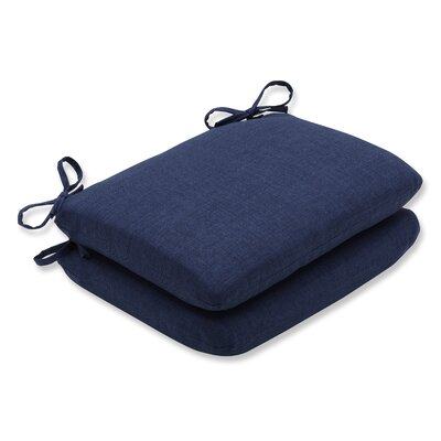 Rave Outdoor Corner Seat Cushion Fabric: Indigo