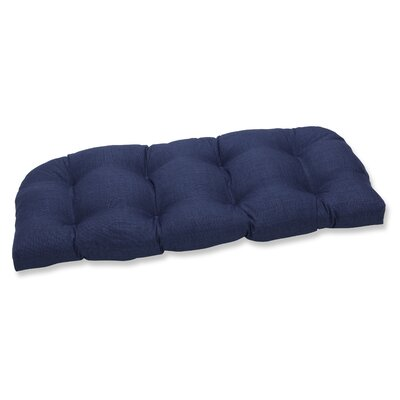 Rave Outdoor Loveseat Cushion Fabric: Indigo
