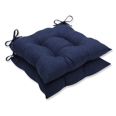 Rave Outdoor Chair Cushion Fabric: Indigo