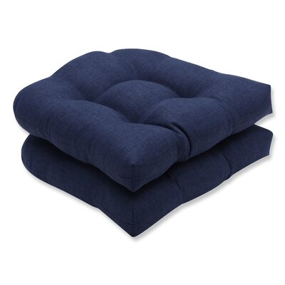 Rave Outdoor Chair Seat Cushion Fabric: Indigo