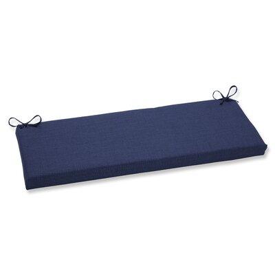 Rave Outdoor Bench Cushion Fabric: Indigo