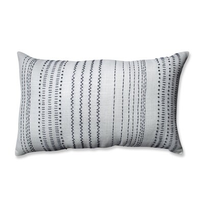 Tribal Stitches 100% Cotton Lumbar Pillow Color: Cream/Gray