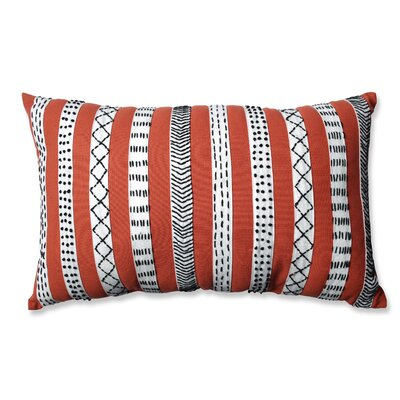 Tribal Bands Cotton Lumbar Pillow Color: Rust/Cream/Black