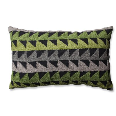 Samba Cotton Lumbar Pillow Color: Green/Gray/Black