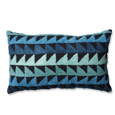 Samba Cotton Lumbar Pillow Color: Teal/Blue/Black