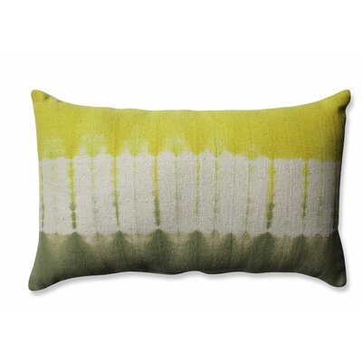 Shibori Bands Cotton Lumbar Pillow Color: Apple/Olive