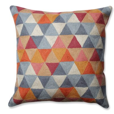 Triangle Grid Wool Throw Pillow Color: Citrus/Gray