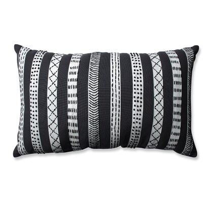 Tribal Bands Cotton Lumbar Pillow Color: Cream/Gray/Black