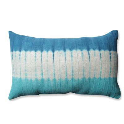 Shibori Bands Cotton Lumbar Pillow Color: Teal/Turquoise