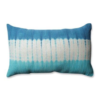 Shibori Bands Cotton Lumbar Pillow Color: Teal/Turquoise