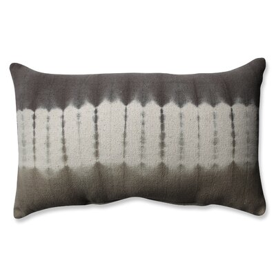 Shibori Bands Cotton Lumbar Pillow Color: Coffee/Latte