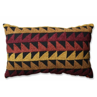 Samba Cotton Lumbar Pillow Color: Cinnamon/Spice/Black