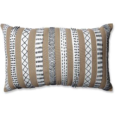 Tribal Bands Cotton Lumbar Pillow Color: Camel/Cream/Black