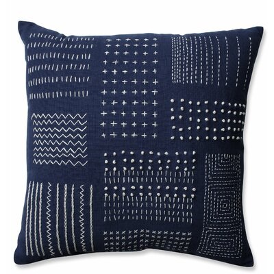 Tribal Sampler 100% Cotton Throw Pillow Color: Navy/White
