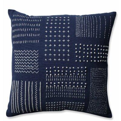 Tribal Sampler Cotton Throw Pillow Color: Navy/White