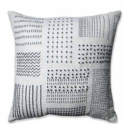 Tribal Sampler 100% Cotton Throw Pillow Color: Cream/Gray