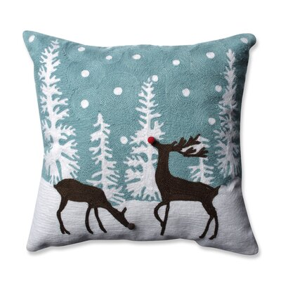 Rudolph Frost Throw Pillow