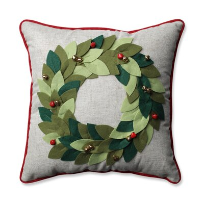 Jingle Bells Wreath Throw Pillow