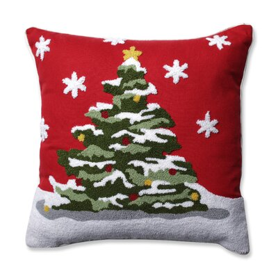 Flocked Tree Throw Pillow