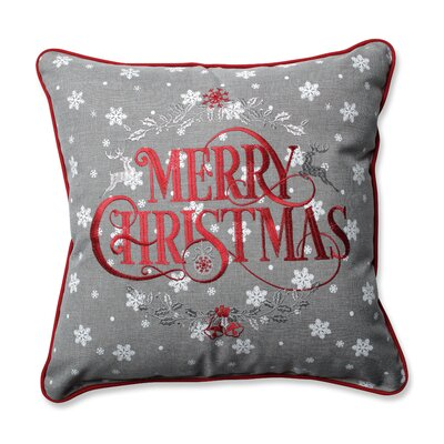 Greta Snowy Christmas Throw Pillow