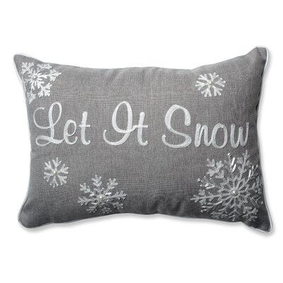 Let It Snow Lumbar Pillow