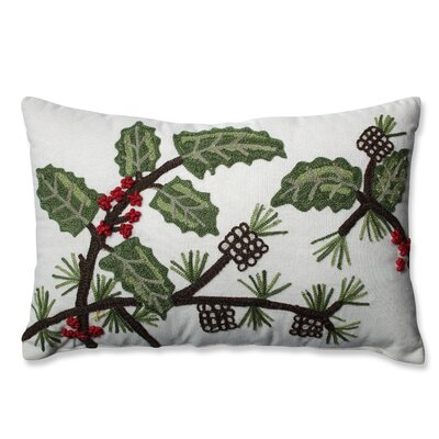 Holly and Berry Pine Lumbar Pillow
