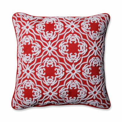 Allee Outdoor/Indoor Throw Pillow Color: Poppy