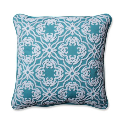 Allee Outdoor/Indoor Throw Pillow Color: Peacock