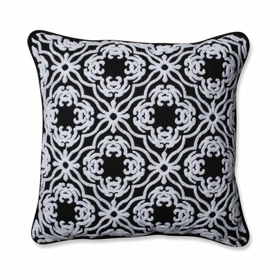 Allee Outdoor/Indoor Throw Pillow Color: Black