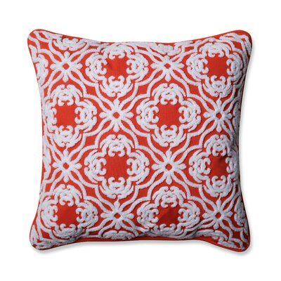 Allee Outdoor/Indoor Throw Pillow Color: Mango