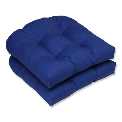 Fresco Outdoor Seat Cushion Color: Navy