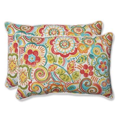 Kilroy Indoor Outdoor Lumbar Pillow Fabric: Carnival, Size: 11.5 H x 18.5 W x 5 D