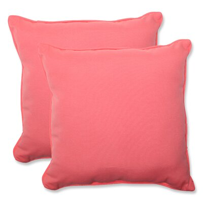 Fresco Indoor Outdoor Throw Pillow Fabric: Melon