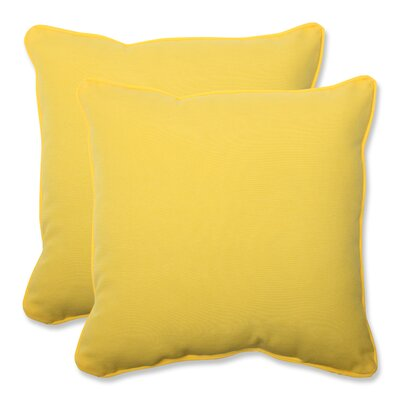 Fresco Indoor Outdoor Throw Pillow Fabric: Yellow