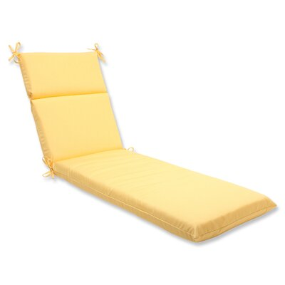 Canvas Outdoor Chaise Lounge Cushion Fabric: Buttercup